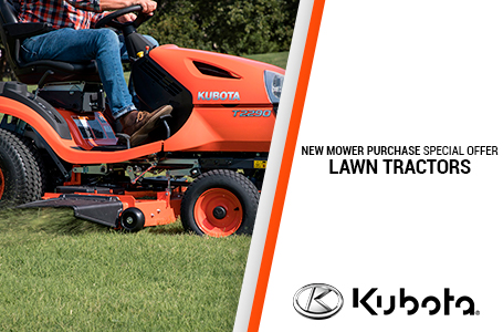 NEW MOWER PURCHASE SPECIAL OFFER-LAWN TRACTORS