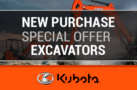 New Purchase Special Offer - Kubota Excavators