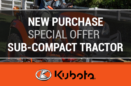 New Purchase Special Offer - Sub-Compact Tractor