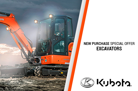 New Purchase Special Offers - Excavators