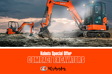 Kubota Special Offer - Compact Excavators