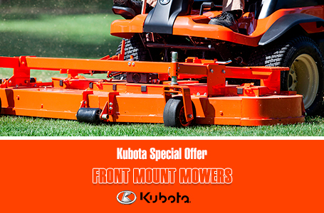 Kubota Special Offer - Front Mount Mowers