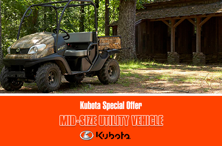 Kubota Special Offer - Mid-Size Utility Vehicles