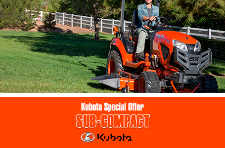 Kubota Special Offer - Tractors Sub-Compact