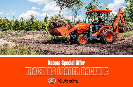 Kubota Special Offer - Tractors Loader Backhoe