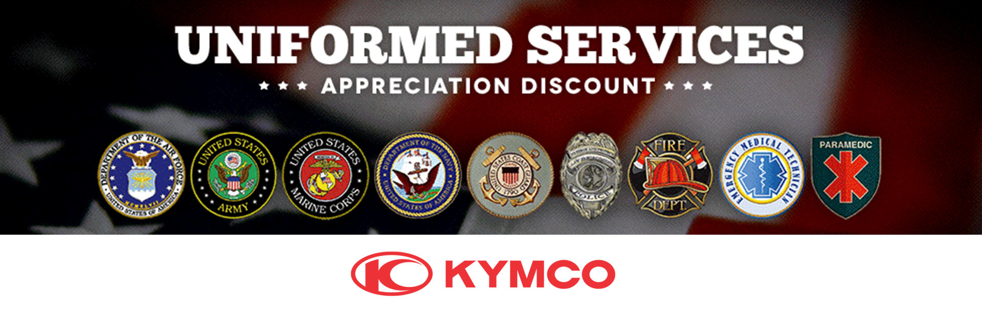 KYMCO: Uniformed Services Appreciation Discount