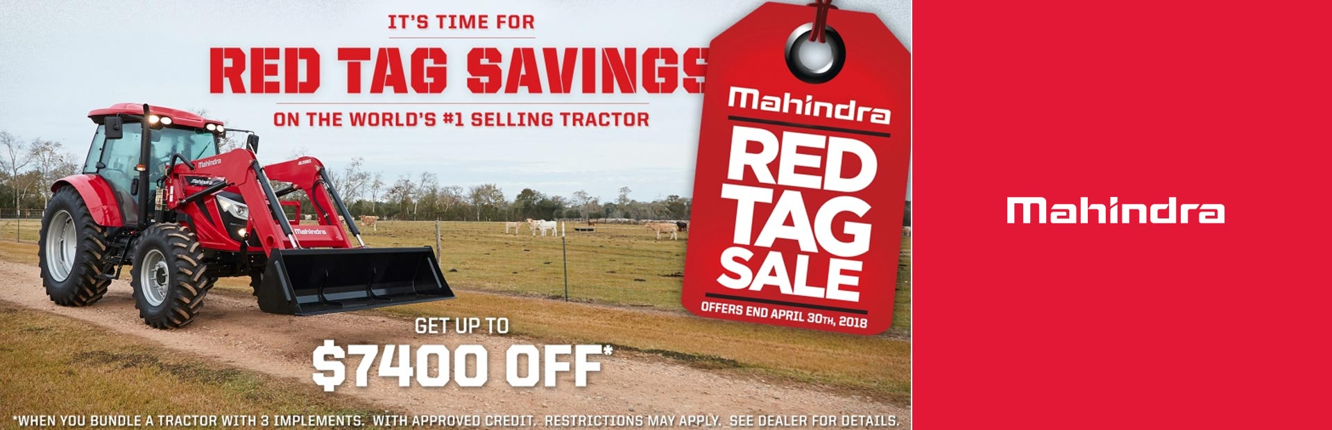 Mahindra: 2018 Red Tag Sale