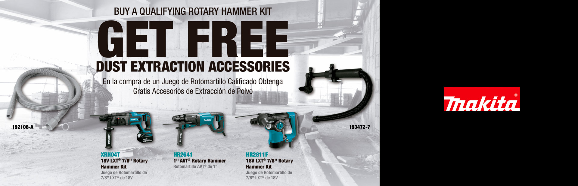 Makita: BUY A QUALIFYING ROTARY HAMMER KIT / GRINDER KIT