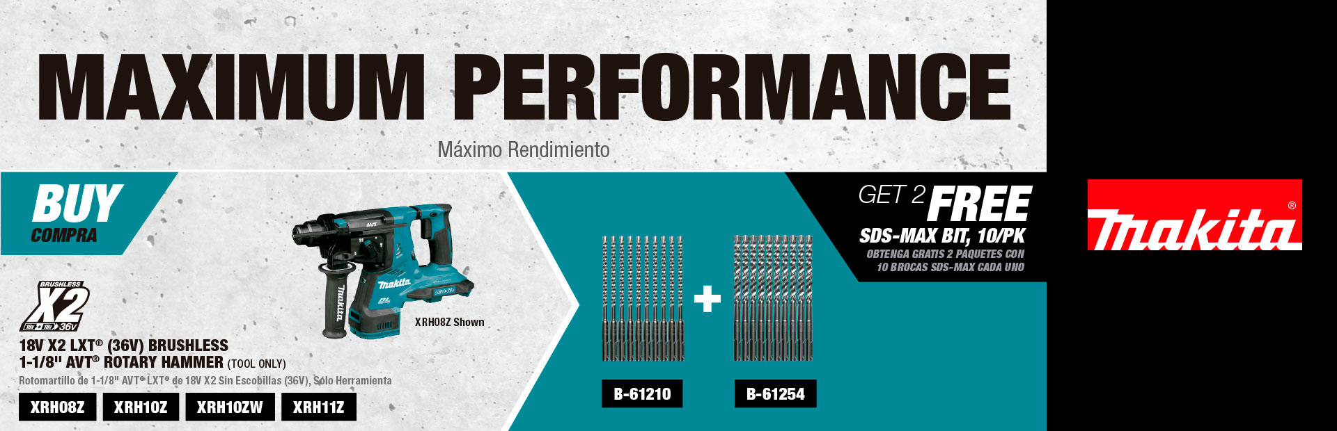 Makita: MAXIMUM PERFORMANCE