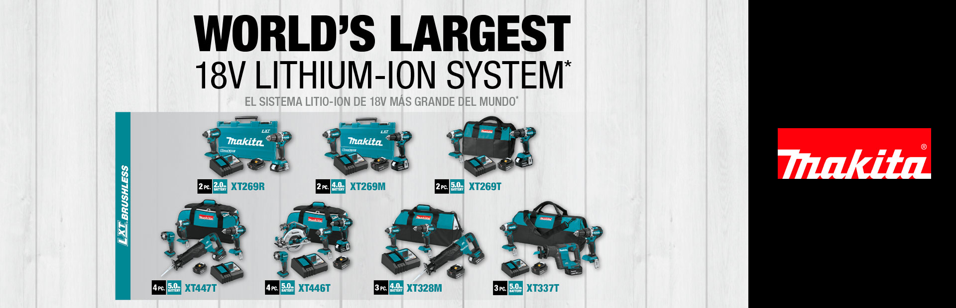Makita: World's Largest 18v Lithium-Ion System