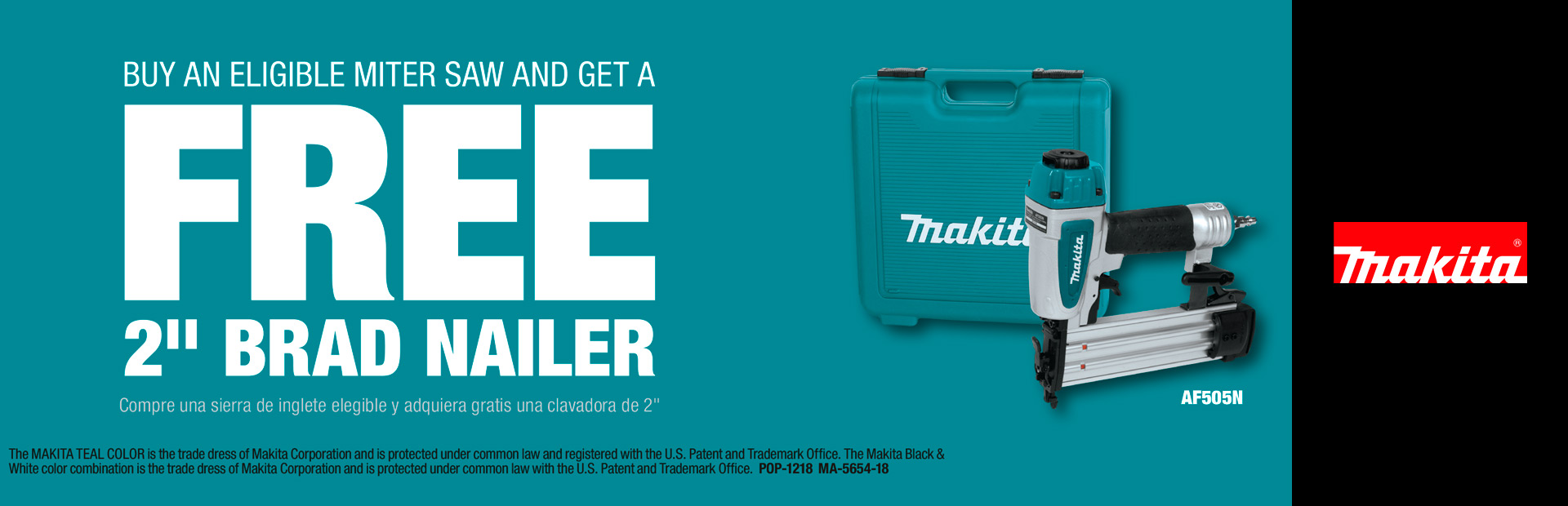"Makita: BUY A MITER SAW AND GET A FREE 2"" BRAD NAILER"
