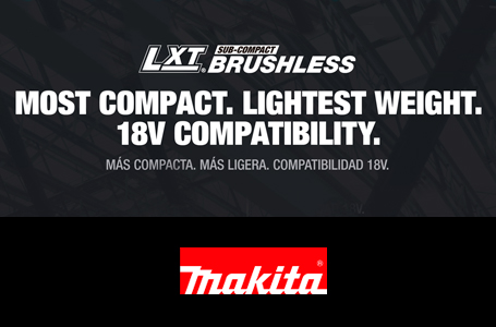 Most Compact. Lightest Weight. 18V Compatibility