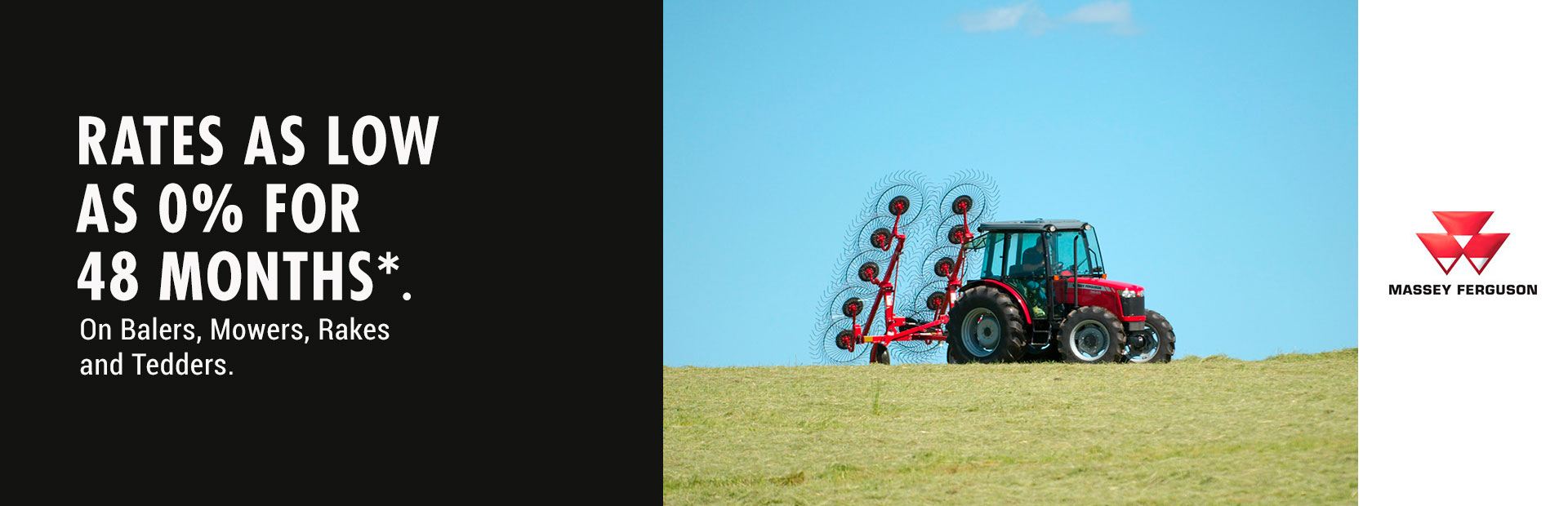 Massey Ferguson: 0% for 48 Months on Balers, Mowers, Rakes, Tedders