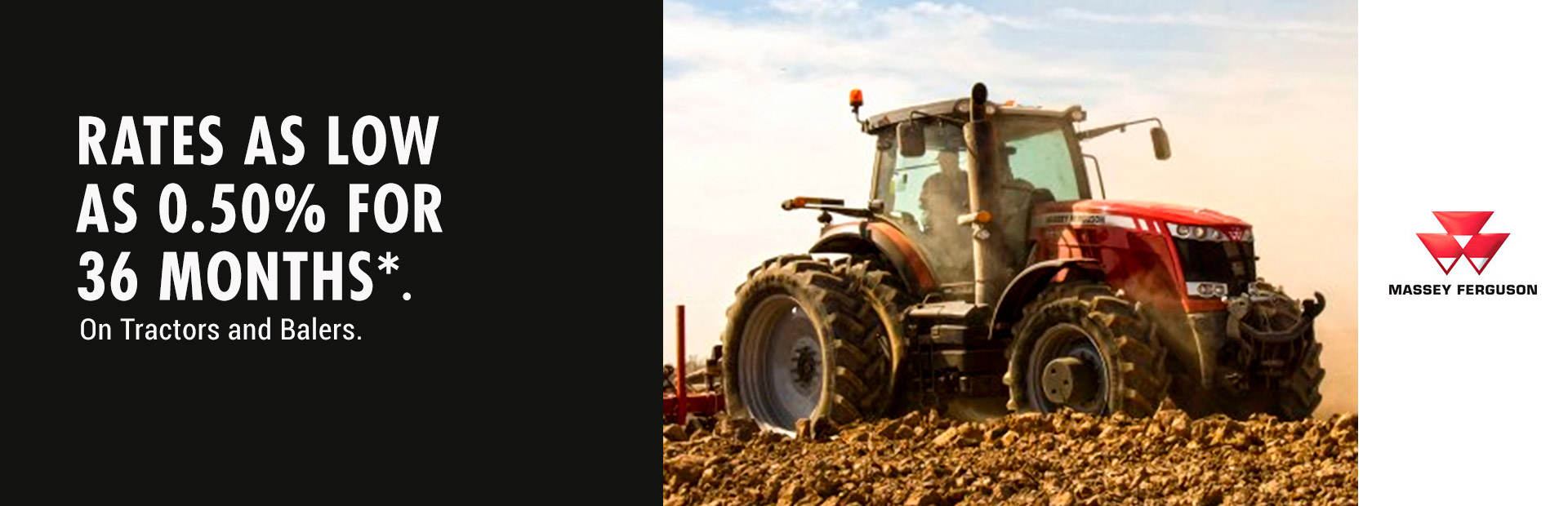 Massey Ferguson: 0.50% for 36 Months on Tractors and Balers