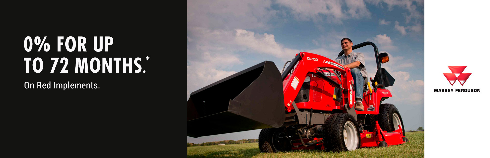 Massey Ferguson: 0% for up to 72 Months on Red Implements
