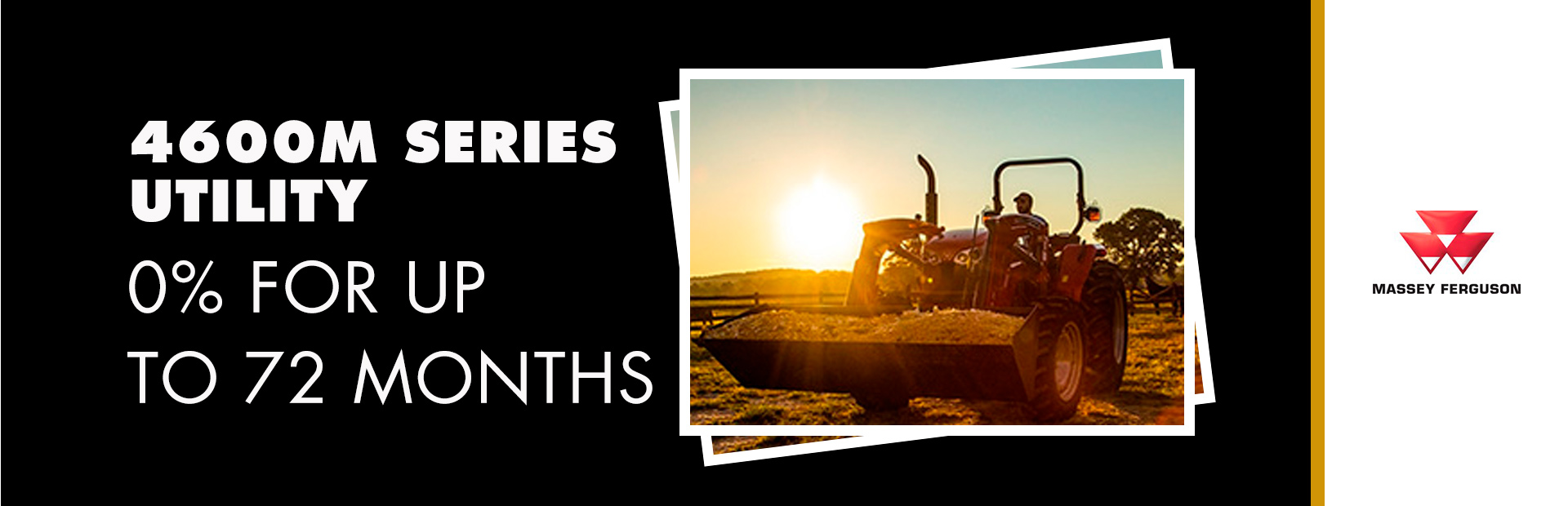 Massey Ferguson: 4600M Series Utility - 0% for up to 72 Months