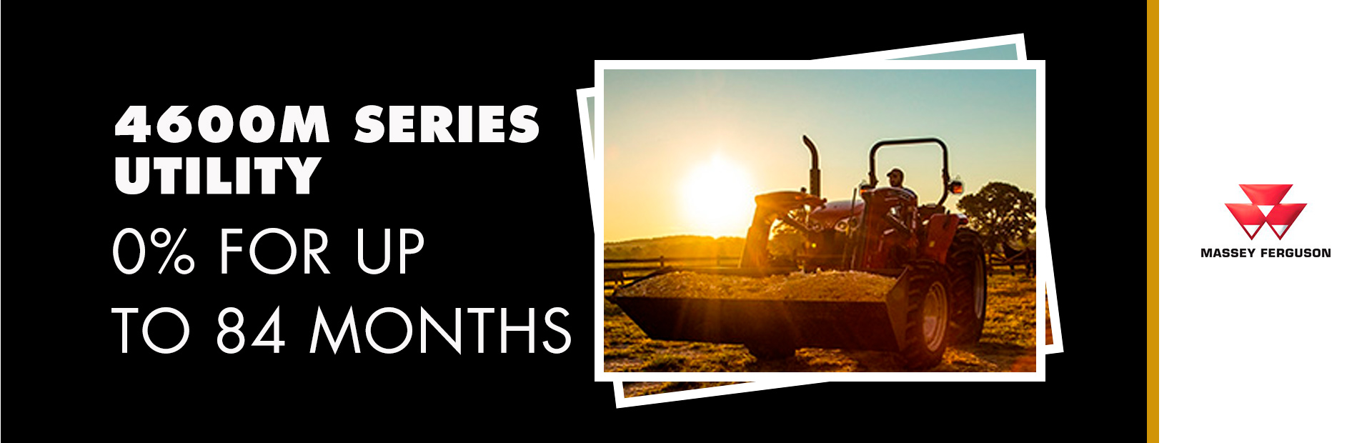 Massey Ferguson: 4600M Series Utility - 0% for up to 84 Months