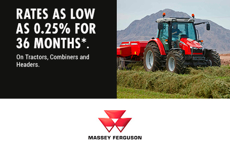 0.25% for 36 Months on Tractors, Combines, Headers