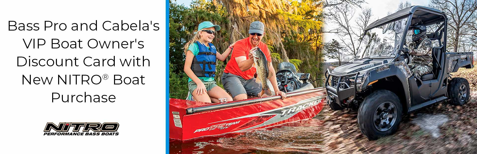 Nitro Bass Pro Cabela S Vip Card W Nitro Boat Purchase Easton S Marine Lawton Ok 580 355 7238