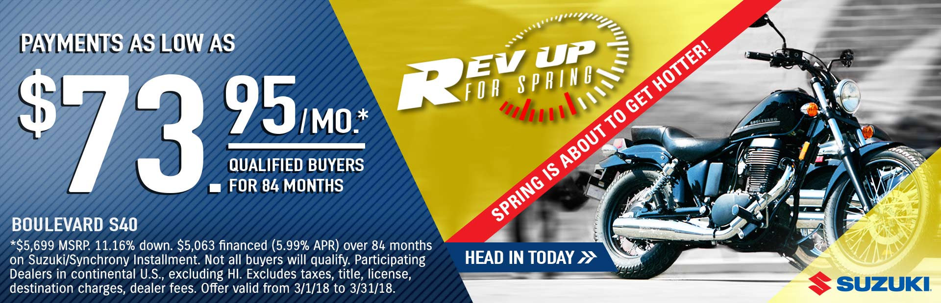 Suzuki: Rev Up for Spring - Boulevard S40