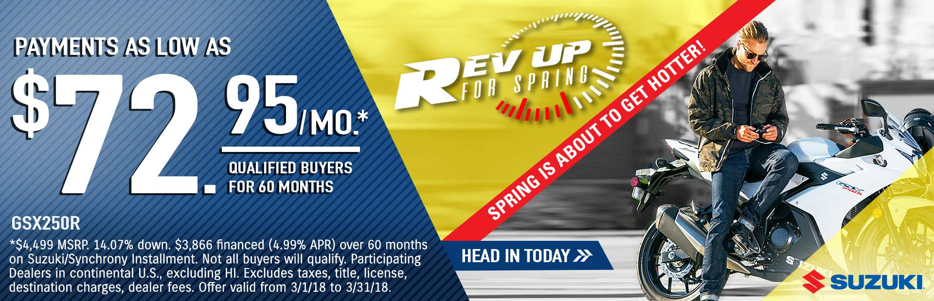 Suzuki: Rev Up for Spring - GSX250R