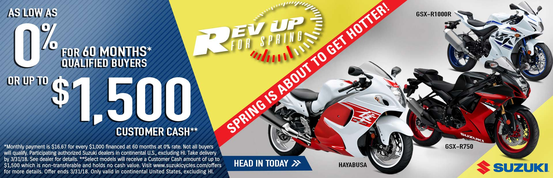 Suzuki: Rev Up for Spring - Sportbike