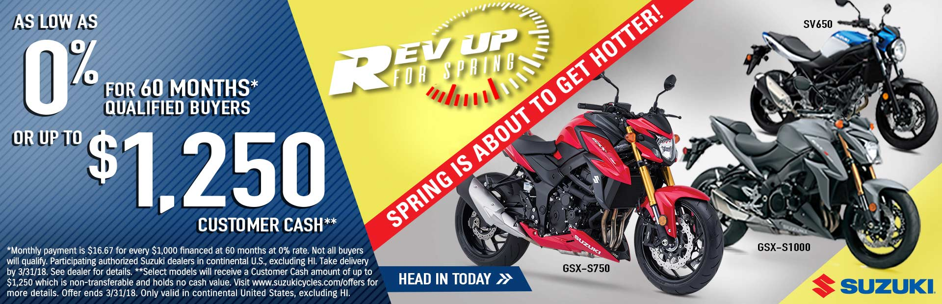 Suzuki: Rev Up for Spring - Standard