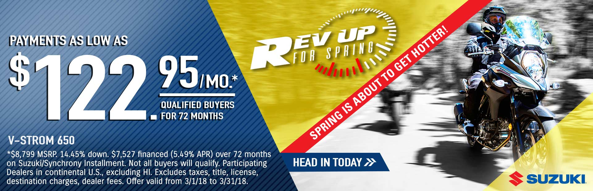 Suzuki: Rev Up for Spring - V-STROM 650