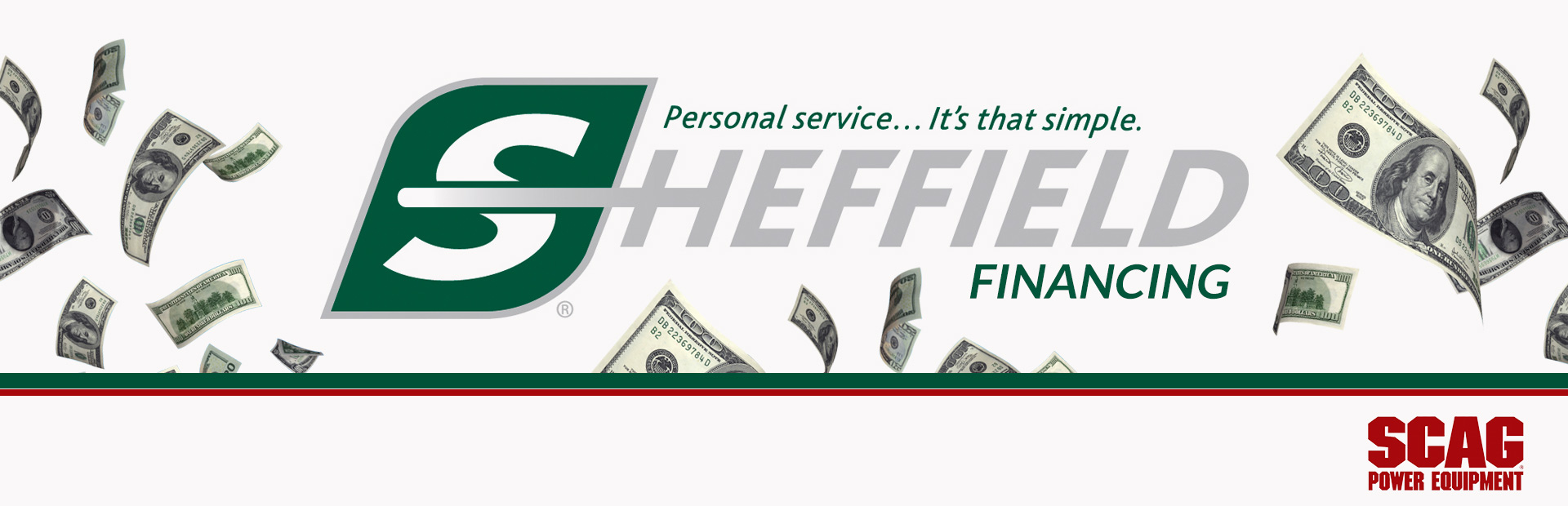 Scag: Sheffield Financing