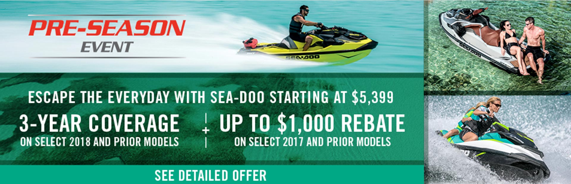 Sea-Doo: Pre-Season Sales Event