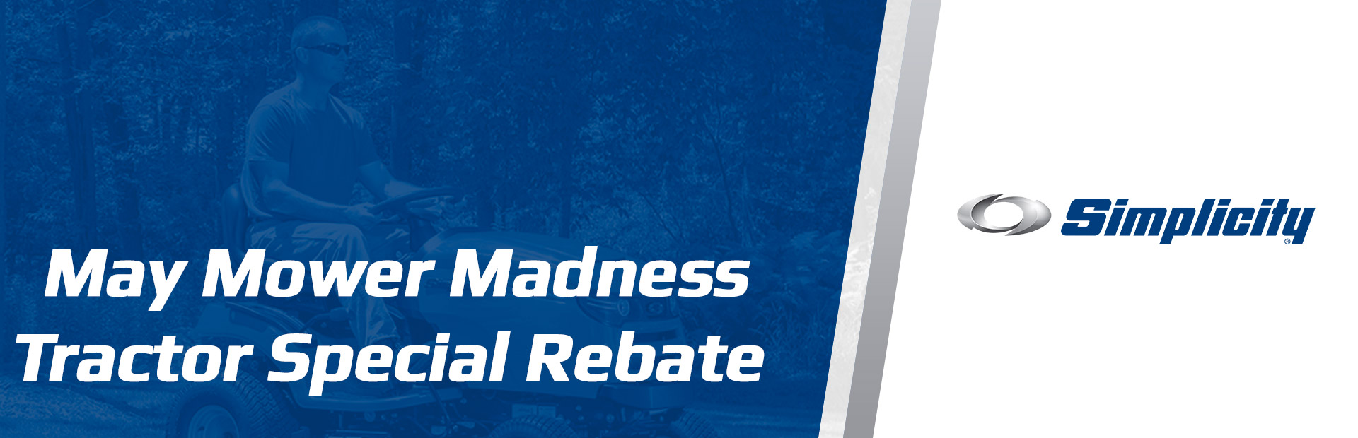 Simplicity: May Mower Madness Tractor Special Rebate