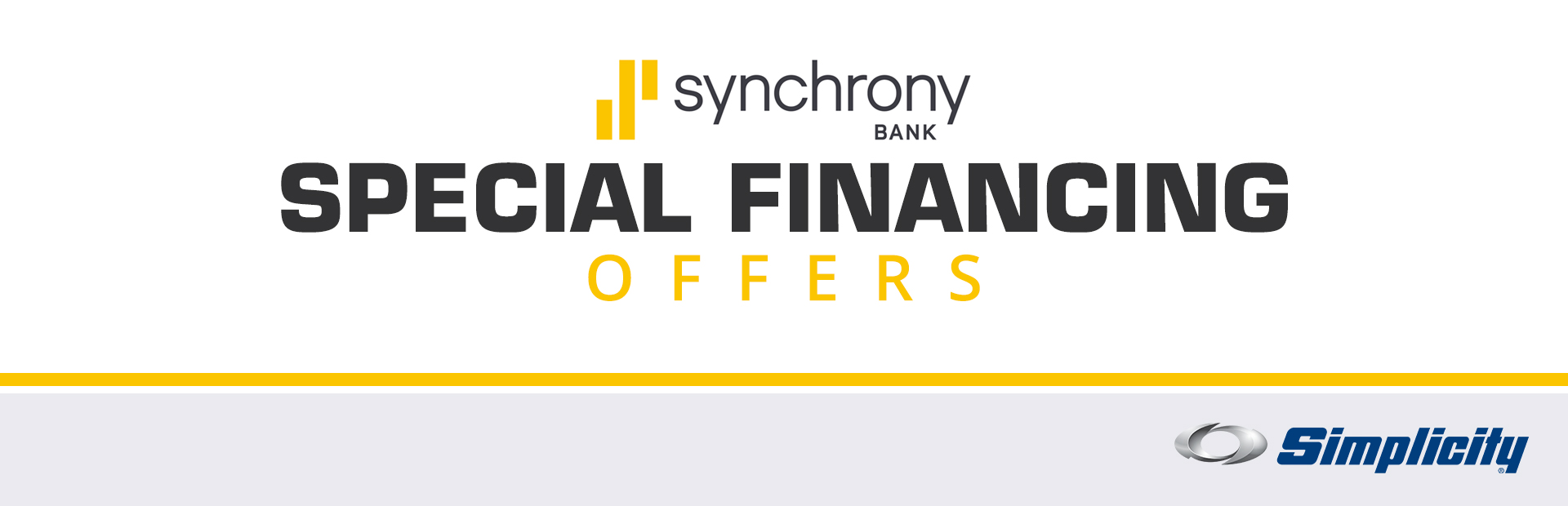 Simplicity: Synchrony Bank Special Financing Offers