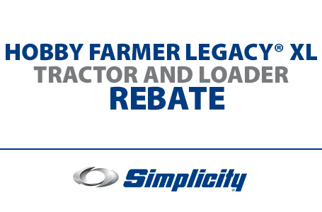 Hobby Farmer Legacy® XL Tractor And Loader Rebate