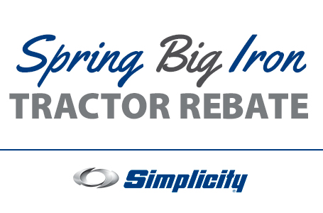 Spring Big Iron Tractor Rebate