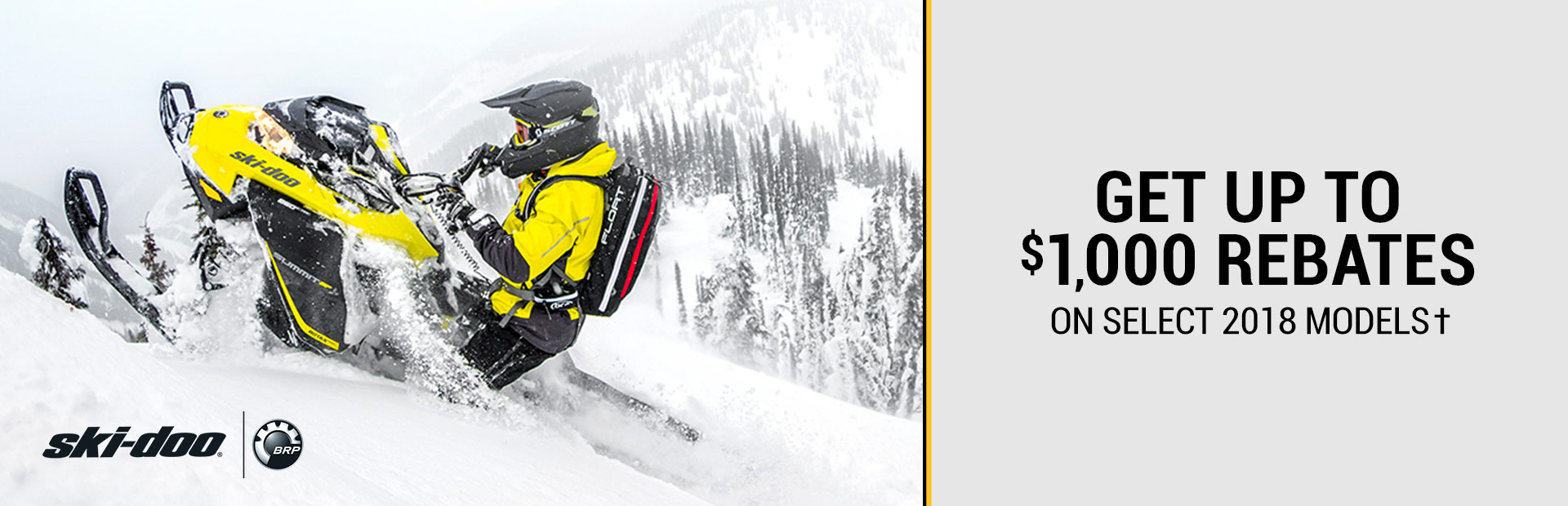 Ski-Doo: Get Up To $1,000 Rebates On Select 2018 Models