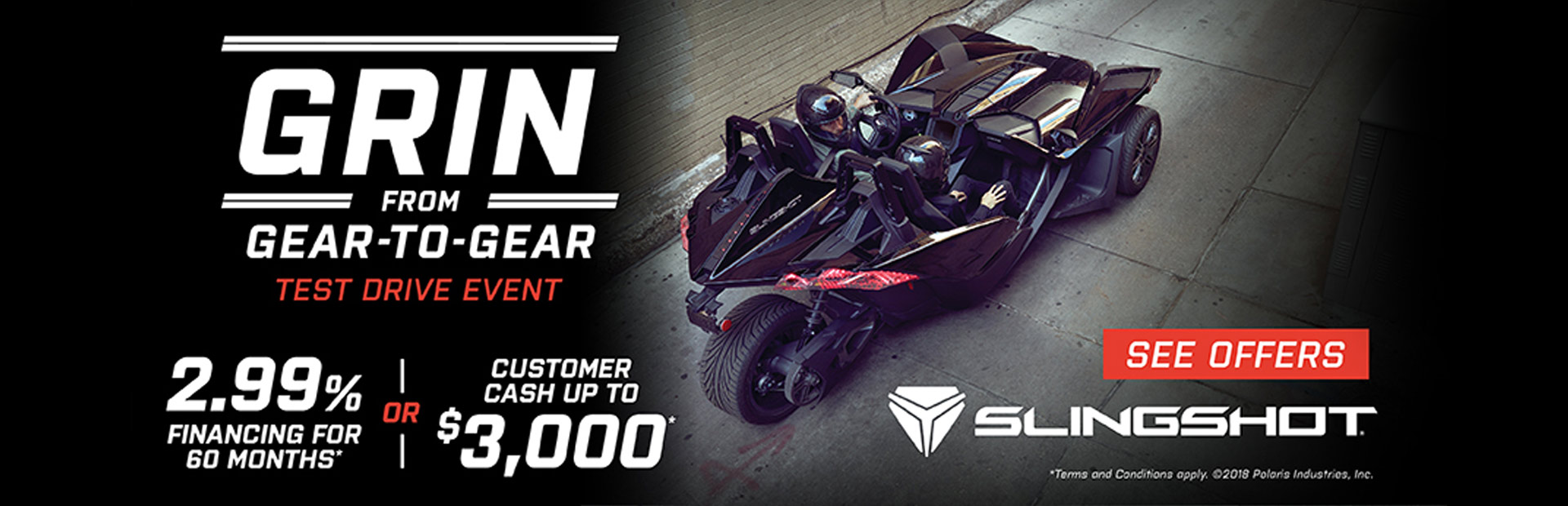 Slingshot: Grin From Gear to Gear Test Drive Event