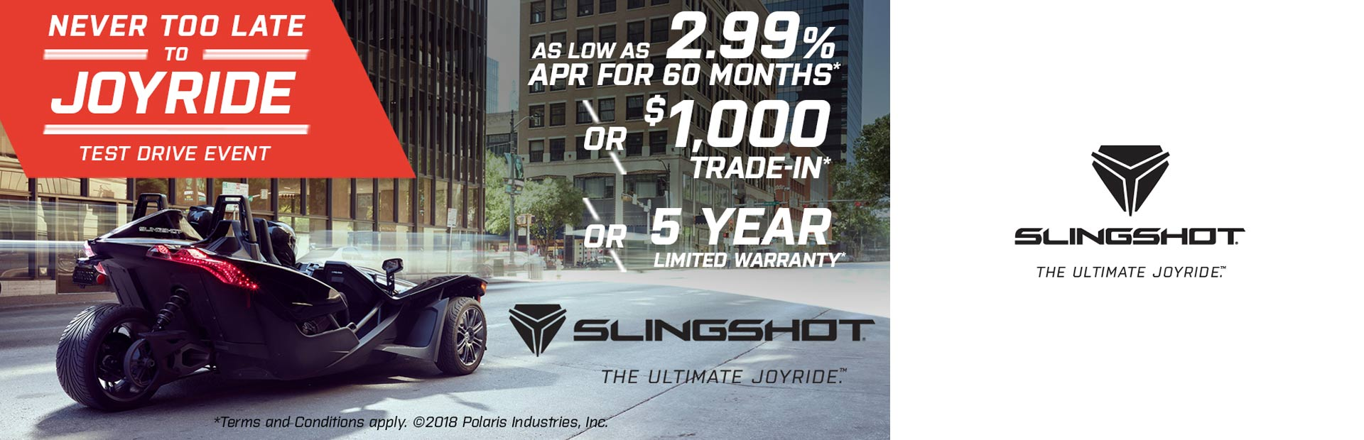 Slingshot: Never Too Late To Joyride - Test Drive Event