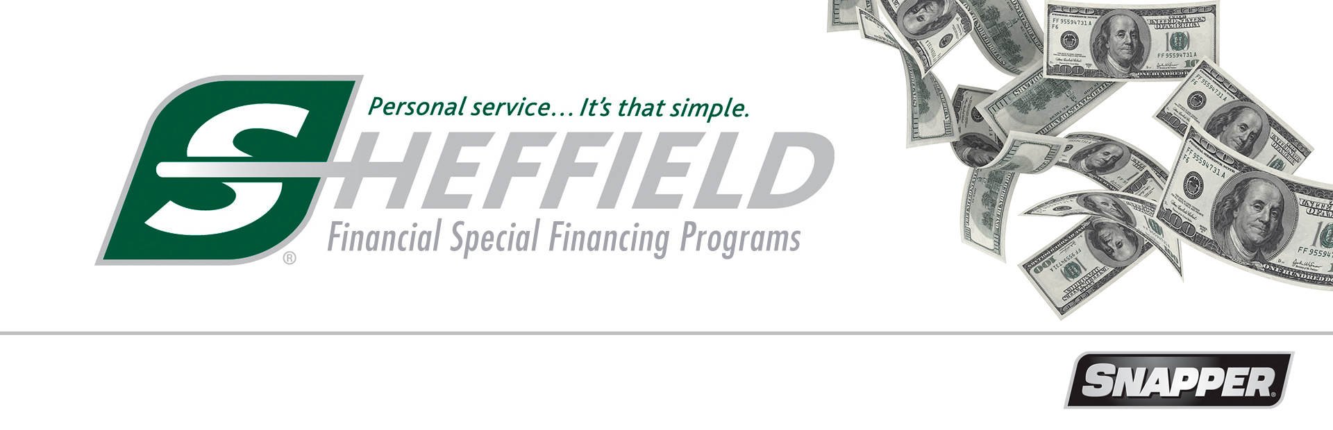 Snapper: Sheffield Financial Special Financing Offers