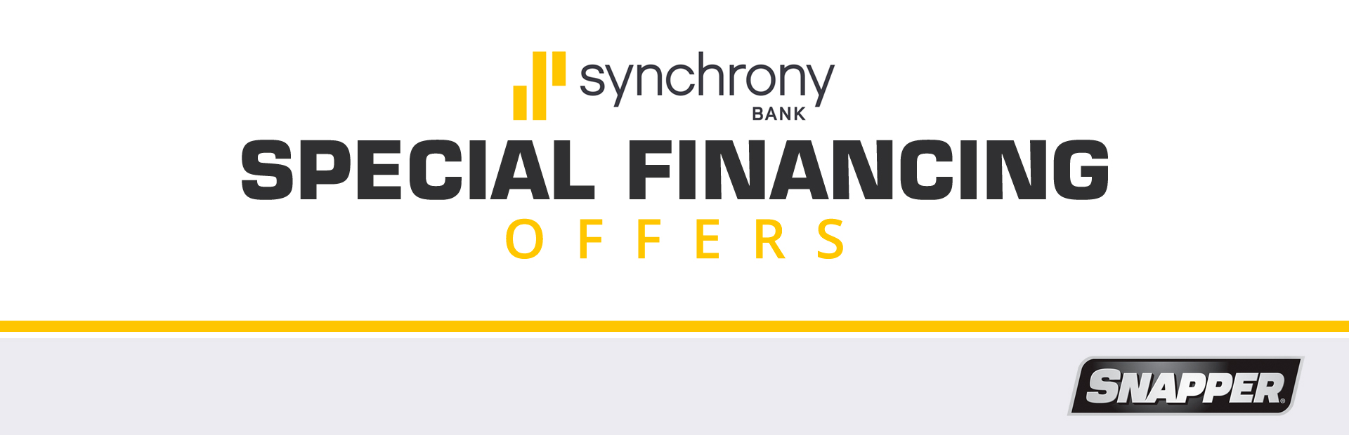 Snapper: Synchrony Bank Special Financing Offers