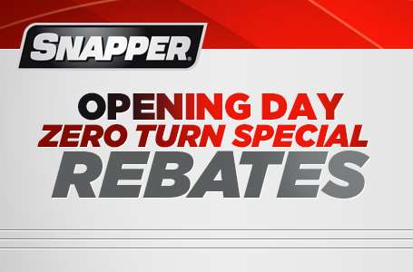 Opening Day Zero Turn Special Rebate