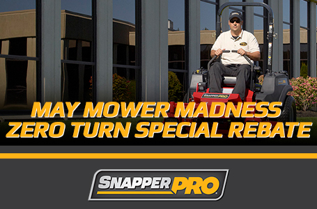 May Mower Madness Zero Turn Special Rebate