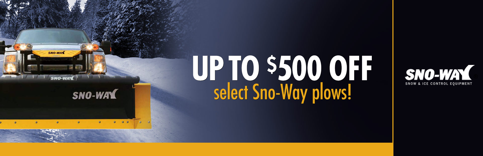 Sno-Way: Up To $500 Off