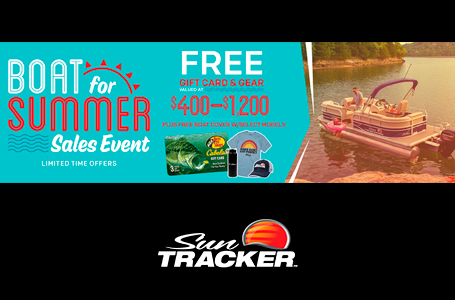 SUN TRACKER Boat for Summer Sales Event