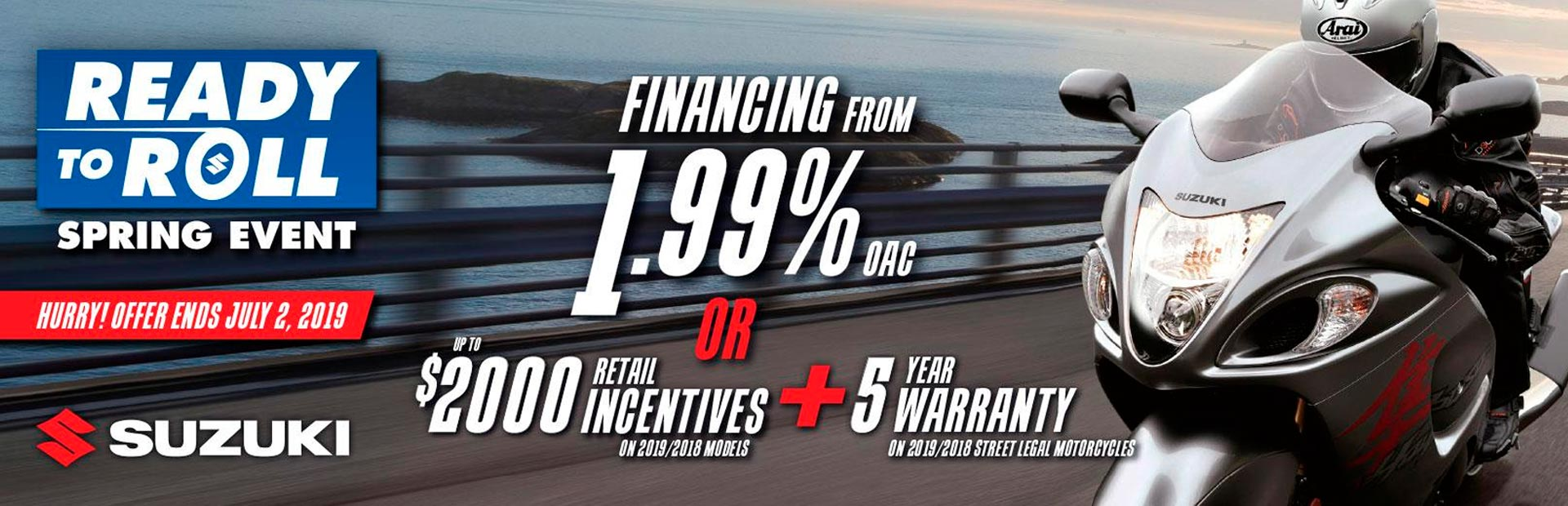 Suzuki: SUZUKI ROLL INTO SPRING SALES EVENT - MOTORCYCLE