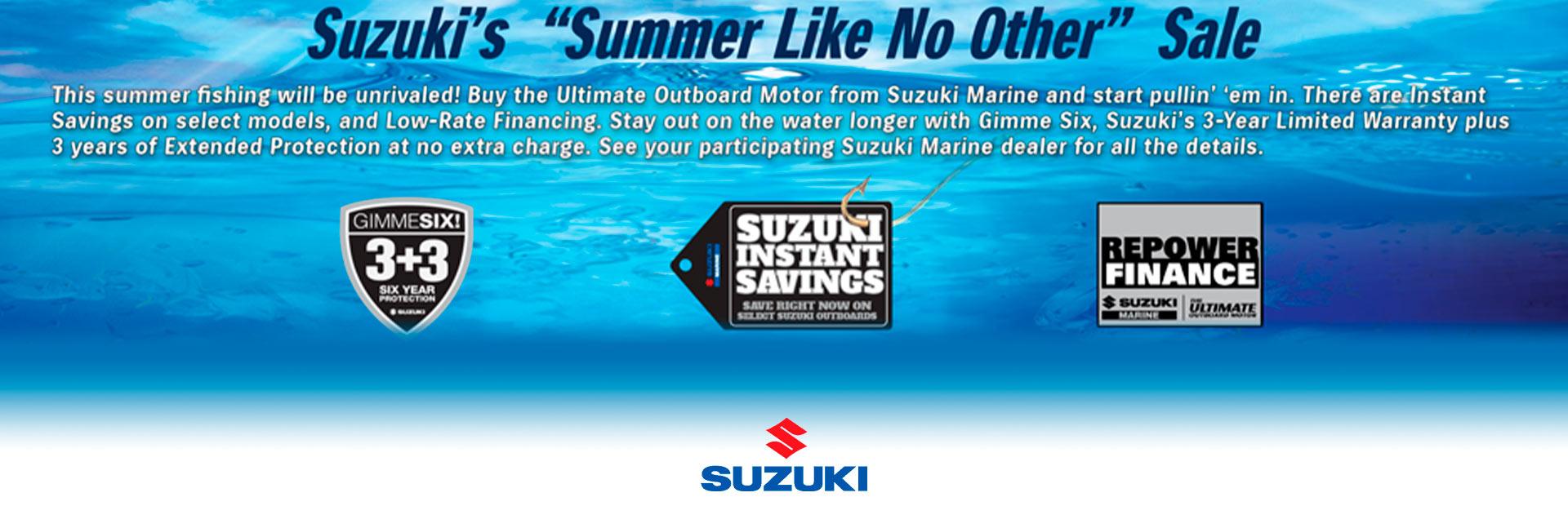 Suzuki - Summer Like No Other Summer Savings Top Notch Marine Florida