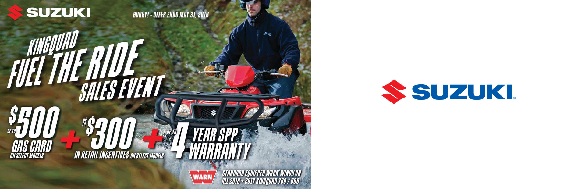 Suzuki: KingQuad Fuel the Ride Sales Event