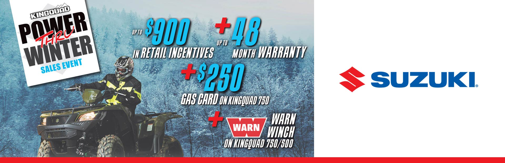 Suzuki: Power Thru Winter Sales Event