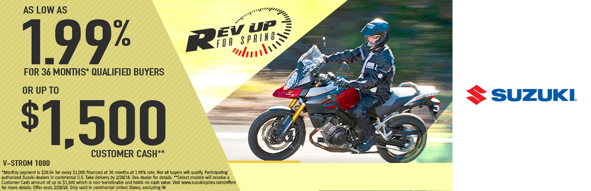 Suzuki: Rev Up for Spring