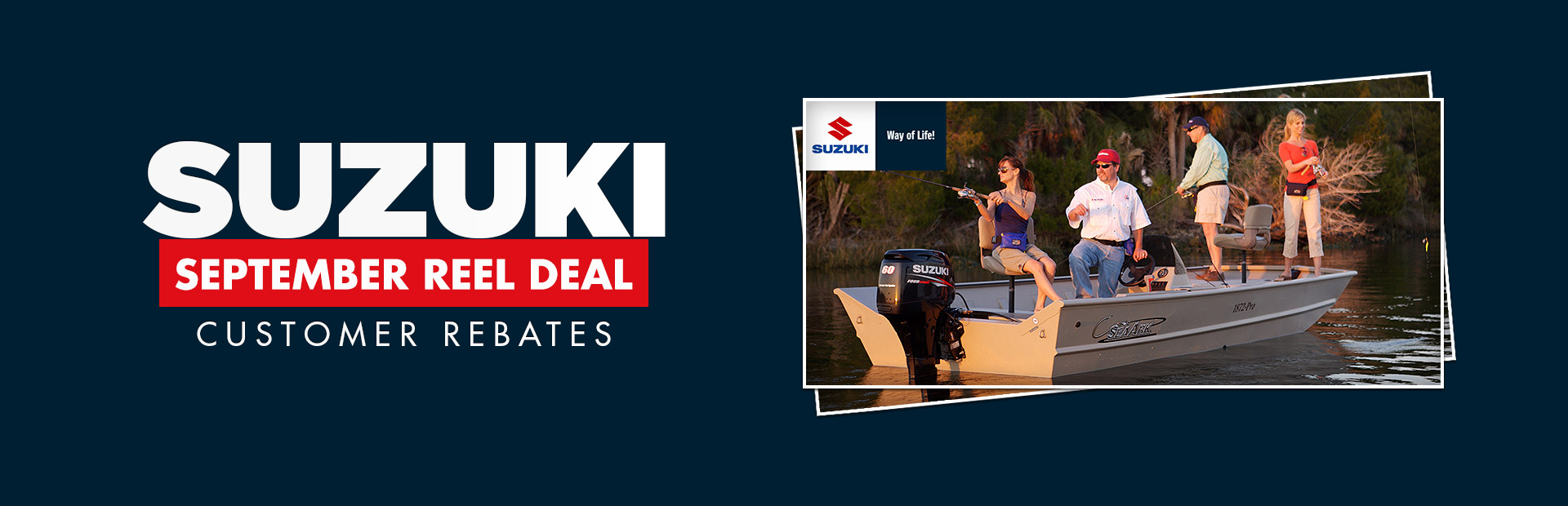 Suzuki: September Reel Deal Customer Rebates