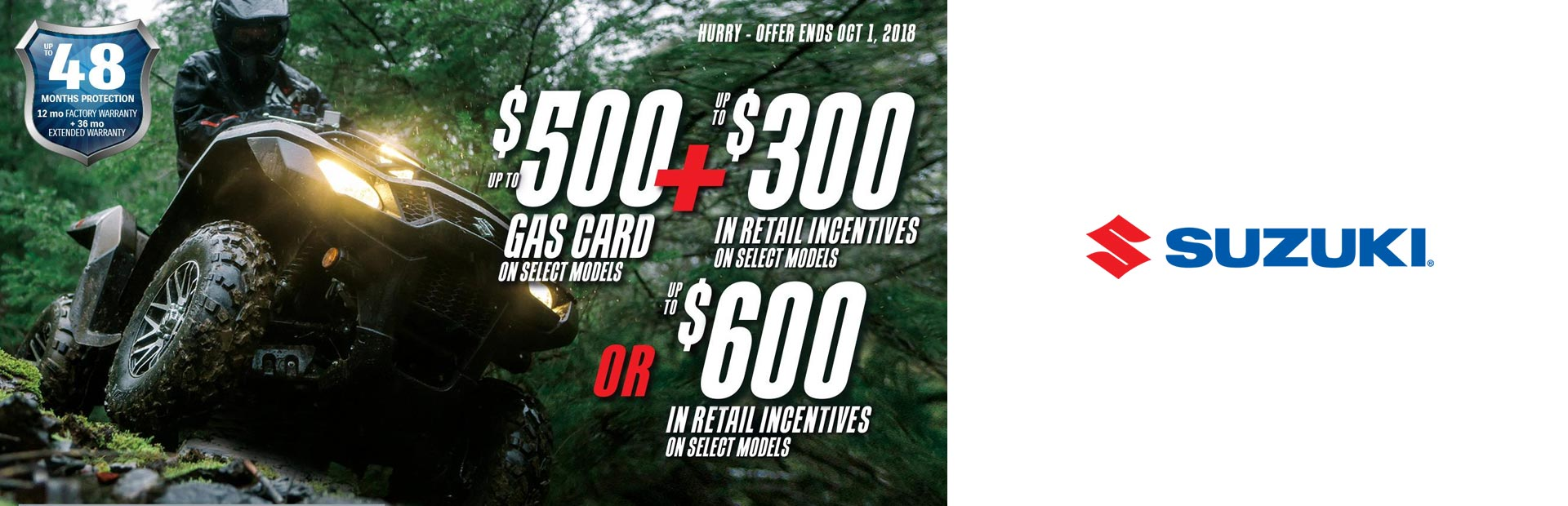 Suzuki: Suzuki Fuel the Ride Summer Savings - ATV